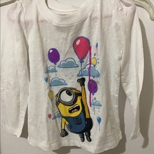 Girls Minion Despicable Me Long Sleeve Shirt New
